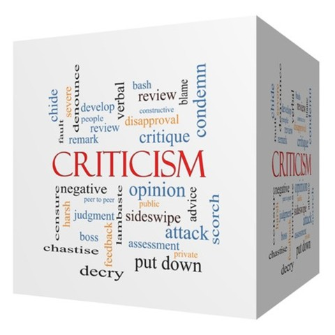 Criticism is all about attitude.