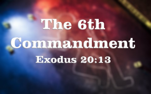 the sixth commandment God's sixth commandment: thou shalt not kill 22 march 2018 - 24 february 2018 - by ray hermann, dmin specifically, the ten commandments, 1 also known as the decalogue, were given by god to the israelites at mount sinai, after moses led the people of israel out of slavery from egypt, about 1440 bc.