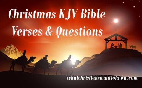 Christmas Kjv Bible Verses With Discussion Questions